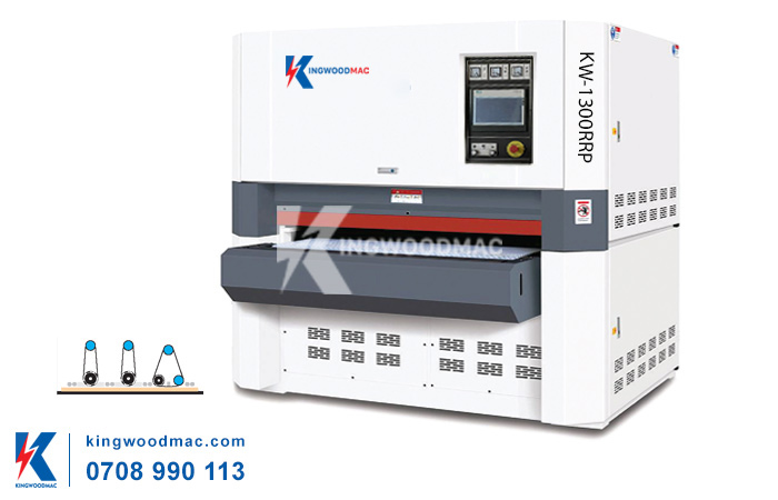 Máy chà nhám thùng 3 trục khổ 1300 KW-1300RRP | KINGWOODMAC