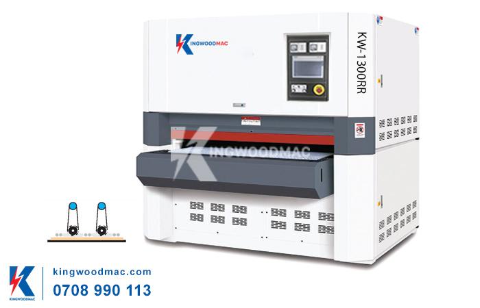 máy chà nhám thùng gỗ 2 trục KW-1300RR | KINGWOODMAC