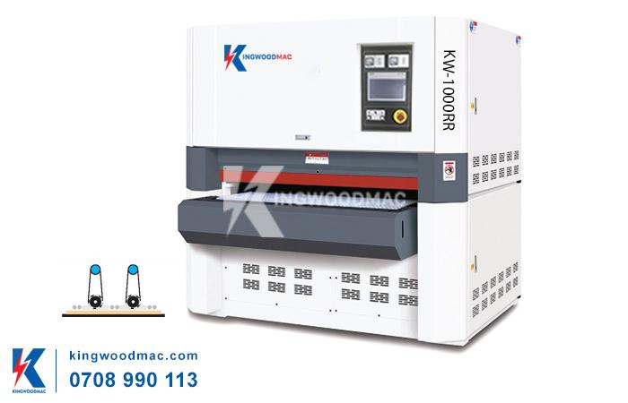máy trà nhám thùng 2 trục khổ 1000mm KW-1000RR | KINGWOODMAC