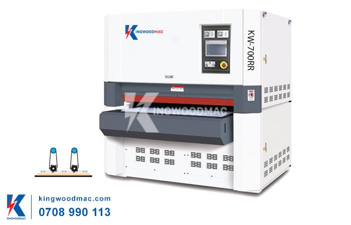 máy trà nhám thùng 2 trục KW-700RR | KINGWOODMAC