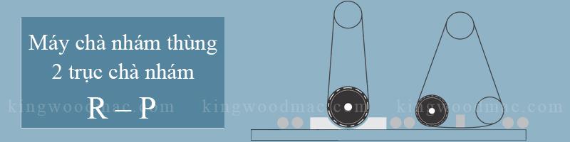 Máy chà nhám thùng 2 trục chà nhám R – P | Kingwoodmac